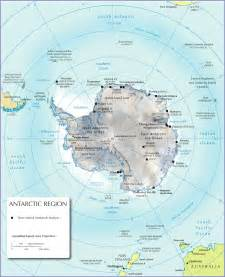World Map Antarctica by Physical Map Of Antarctica Nations Online Project