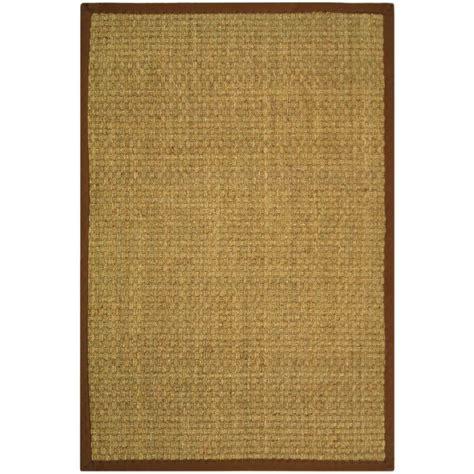 home depot seagrass rug safavieh fiber beige brown 6 ft x 9 ft area rug nf114b 6 the home depot
