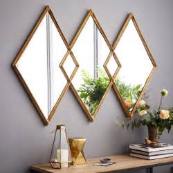 overlapping diamonds mirror west elm