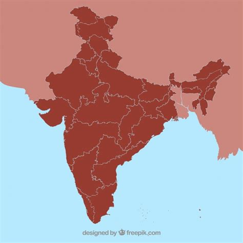 india map vector india state map outline vector free