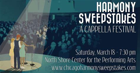 Harmony Sweepstakes - chicago harmony sweepstakes march 24 2018 naperville illinois
