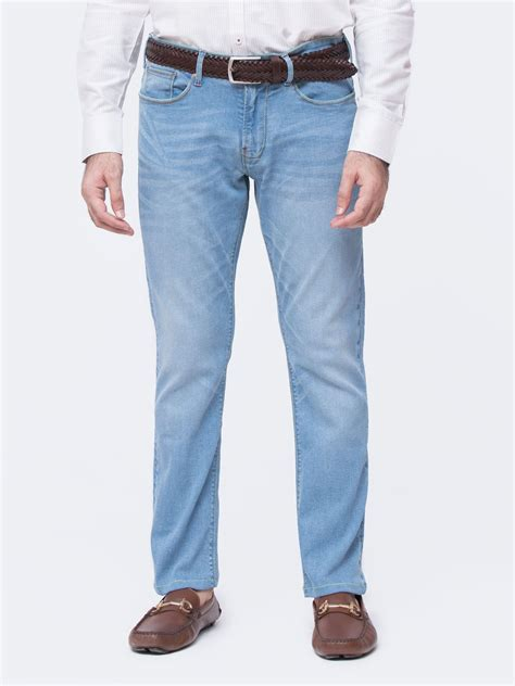 light blue slim jeans slim fit light blue washed denim brumano