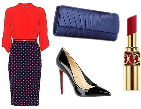 Blouse Sabrina Polkadot Navy accessorise all areas three ways to wear polka dots