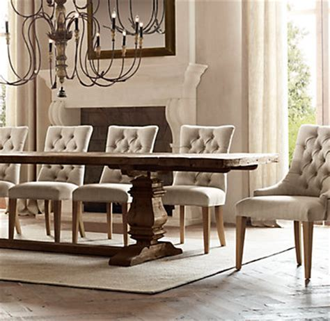 restoration hardware dining room table salvaged wood trestle rectangular extension dining table