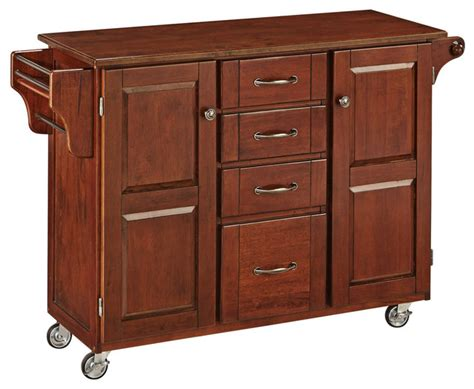cherry kitchen island cart create a cart cherry finish with wood top transitional