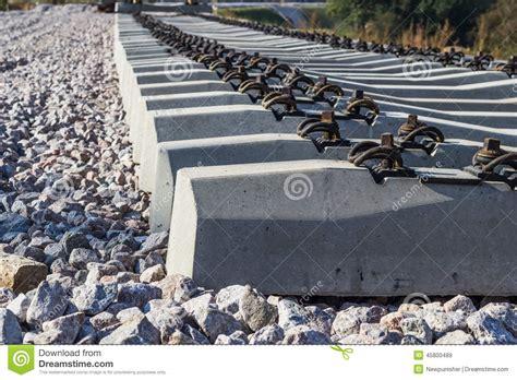 concrete railway sleepers stock photo image 45800489
