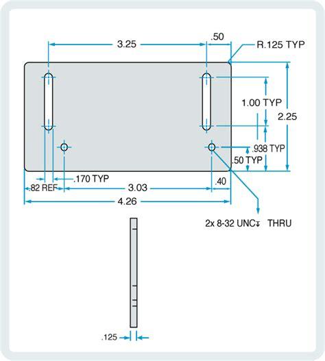 Door Stop Dimensions by Hs Door Stop Extension Plate For Egress Doors Magnasphere