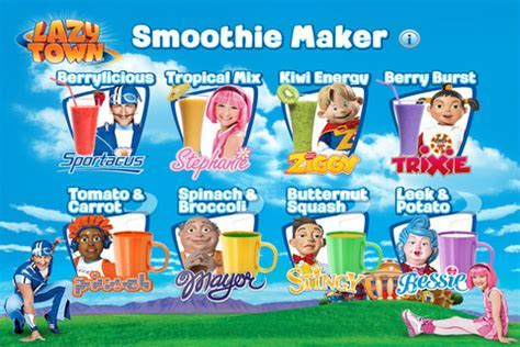 LazyTown Smoothie Maker for iOS   Free download and