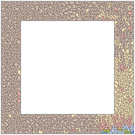 cornici quadrate quadrati di polimini