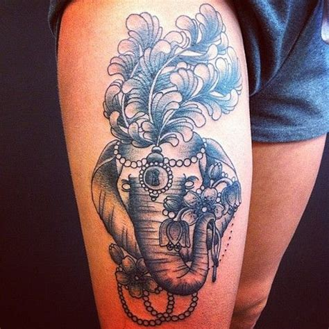 tattoo elephant on thigh the 25 best elephant thigh tattoo ideas on pinterest