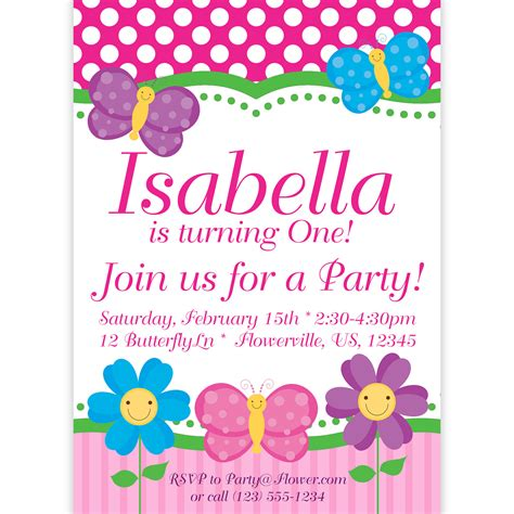 printable birthday invitations butterfly butterfly invitation pink polka dots and stripes