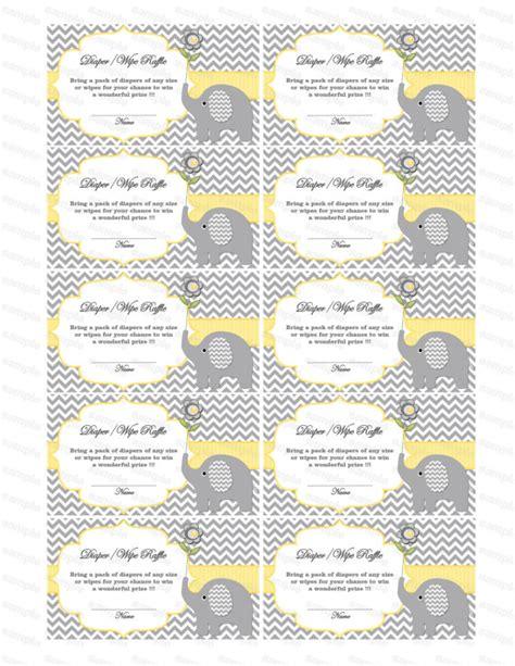 printable diaper raffle tickets elephant baby shower games diaper raffle ticket diaper wipe raffle card