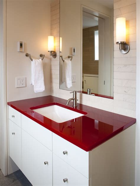 red bathrooms when to incorporate red in a bathroom