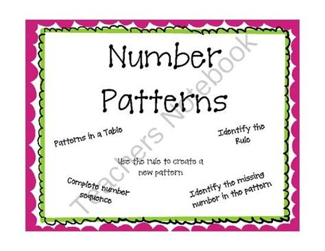 number pattern teaching ideas pinterest the world s catalog of ideas