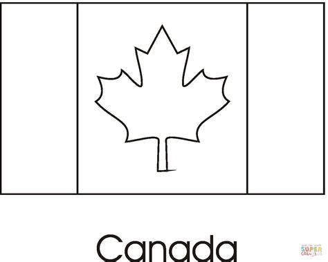 Canada Flag Coloring Online Super Coloring Canada Flag Template