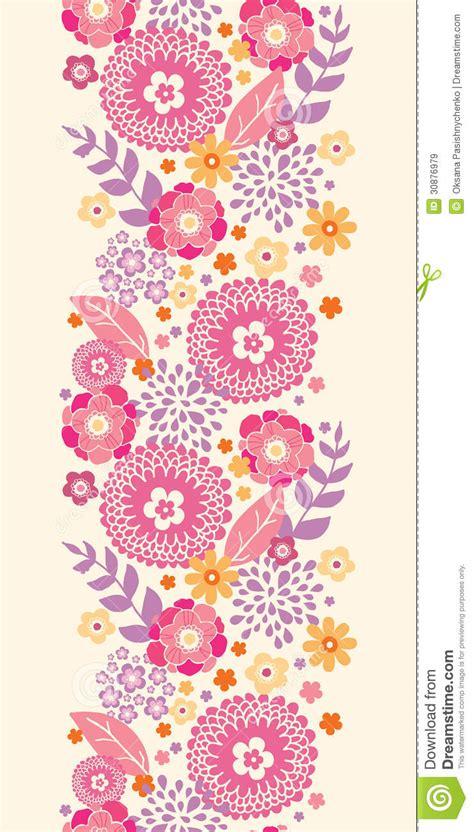 warm summer plants vertical seamless pattern stock vector