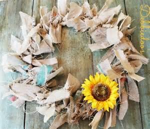 how to make a burlap rag wreath debbiedoos