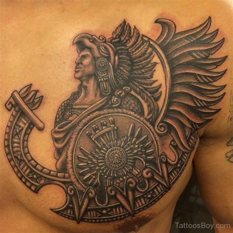 aztec tribal tattoo chest tattoos designs pictures page 5