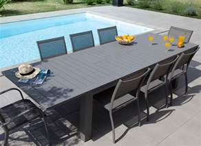 table de jardin aluminium 12 places oc 233 o proloisirs