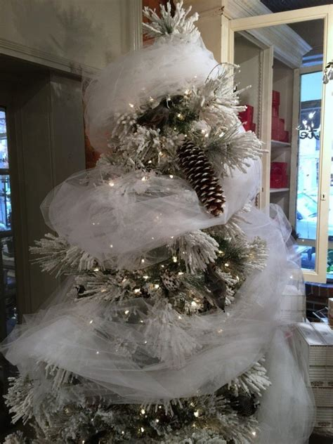 using tulle to decorate christmas tree christmas decore