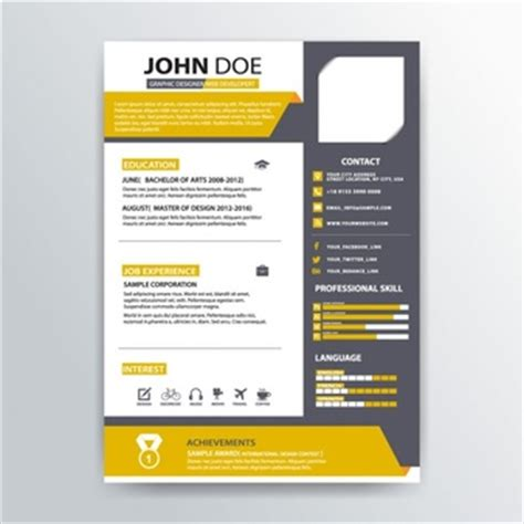 Resume Templates Vector Cv Template Vectors Photos And Psd Files Free