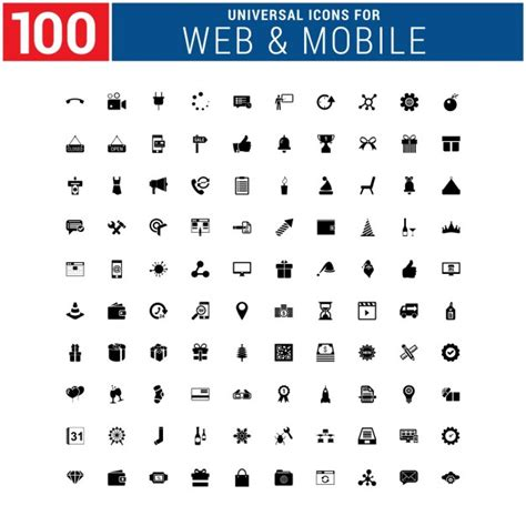 web mobile web mobile icons collection vector free