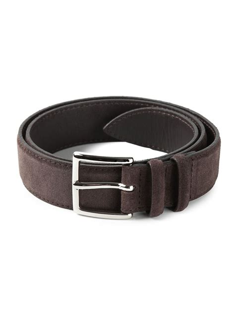 orciani suede belt in brown for lyst