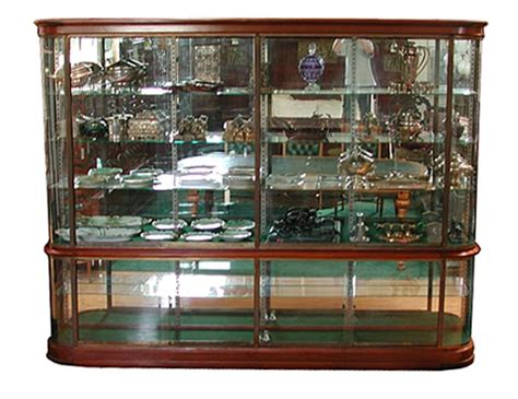 wonderful antique mahogany glass display cabinet