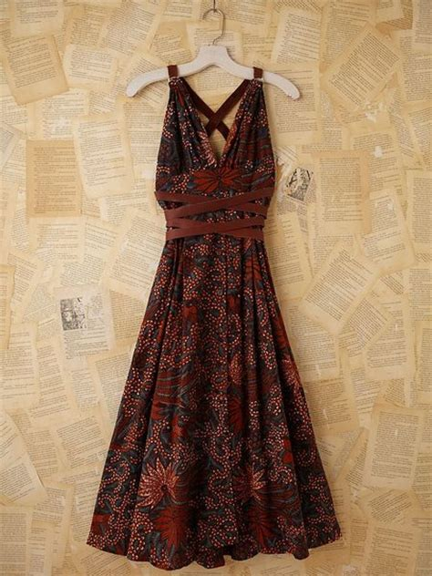 Dress Batik 05 Orange free vintage batik printed maxi dress in multicolor