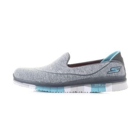 womens skechers go flex charcoal blue lightweight activity slip on shoes sz size ebay