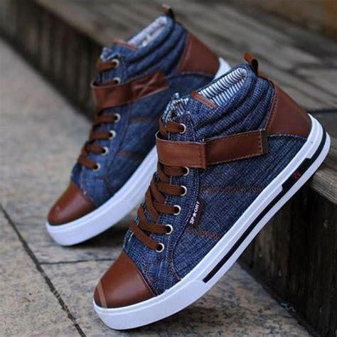 Denim Casual Shoes denim casual shoes 2016 autumn winter lace