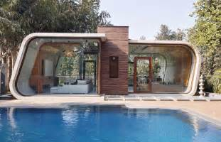 building a pool house 42mm architecture s sculptural pool house in india is