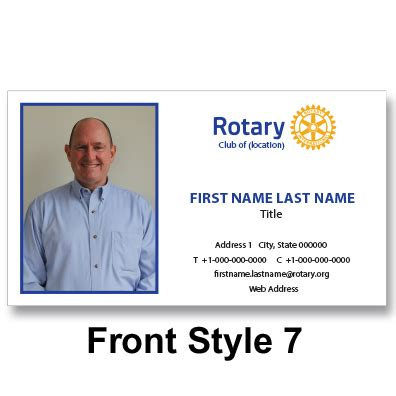 Rotary Membership Card Template by Rotary Business Cards Images Business Card Template