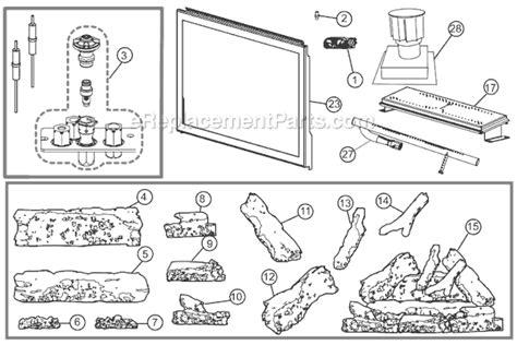 napoleon gas fireplace parts napoleon xir4n parts list and diagram ereplacementparts