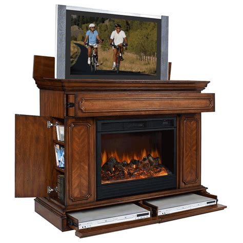 fireplace tv lift object moved