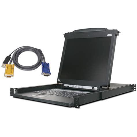 Desktop Ny Lcd Jepit Usb Port aten cl1008mukit 8 port 17 quot single rail lcd kvm cl1008mukit
