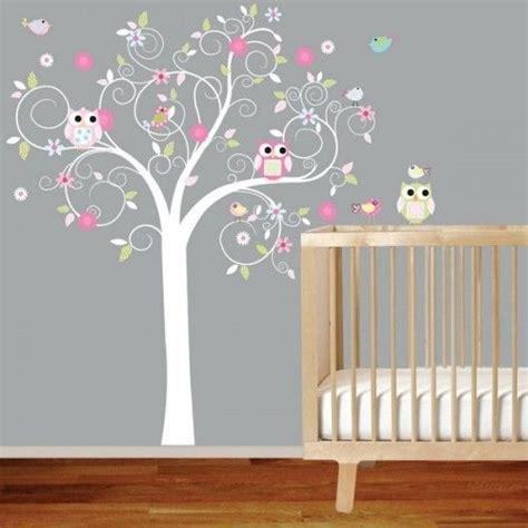 Wandtattoo Kinderzimmer Grau by Babyzimmer Grau Wand Baum Wandtattoo Eule Babyzimmer