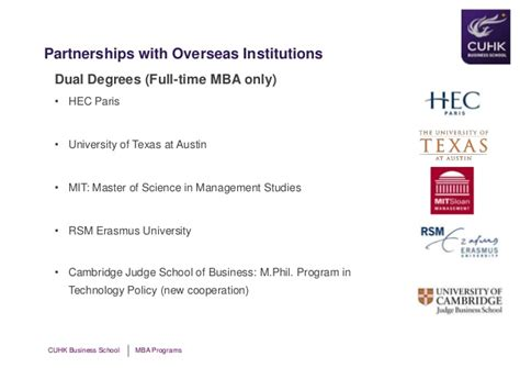Hec Policy For Mba by 2013 Feb 23 Cuhk Openhouse