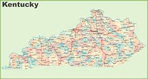 us map kentucky state map of kentucky states and cities maps