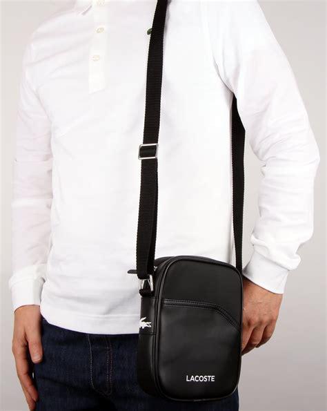 lacoste ultimum bag black shoulder pouch