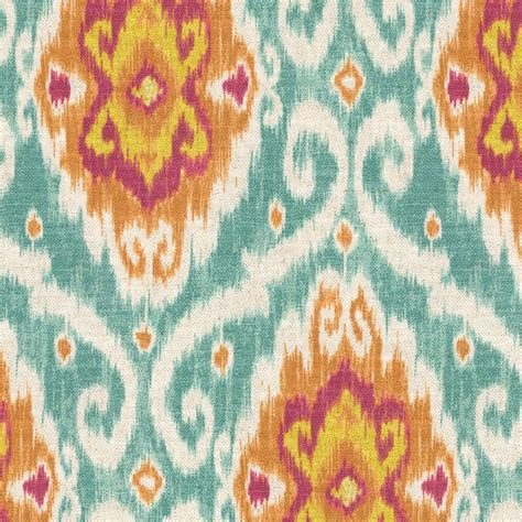 ikat upholstery red blue ikat medallion fabric spice islands caribbean