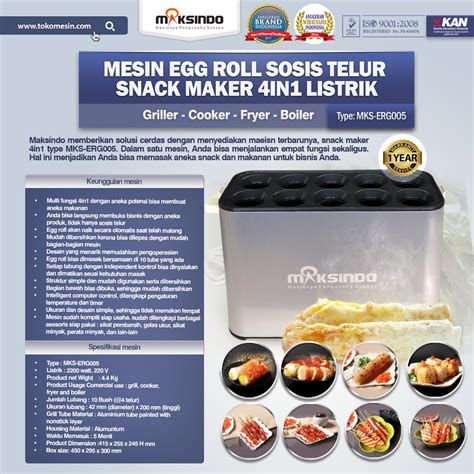 Mesin Egg Roll Listrik Jual Mesin Egg Roll Sosis Telur Snack Maker 4in1 Listrik