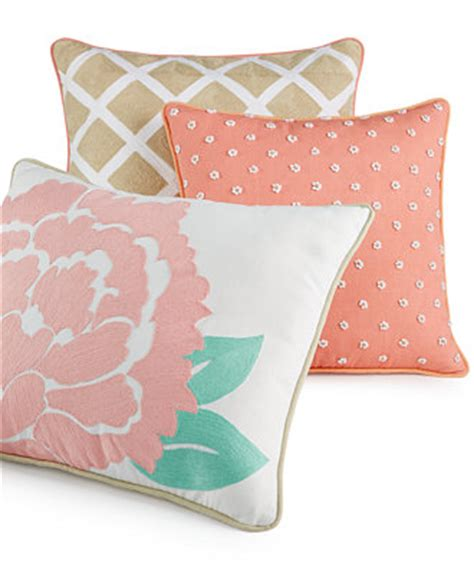 macys bed pillows closeout martha stewart collection village peony