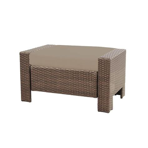 hton bay beverly patio ottoman with beverly beige