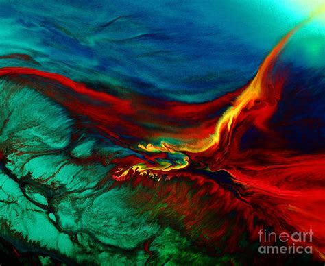 colorful painting meaningful flying above modern abstract colorful