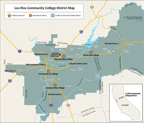cosumnes river college map service area maps lrccd board of trustees