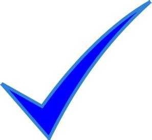 blue check mark clip art icon vector download vector