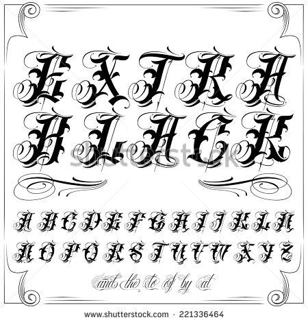 tattoo fonts vector script stock images royalty free images