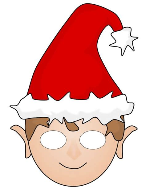 printable elf cut outs free christmas elf printable mask christmas printables
