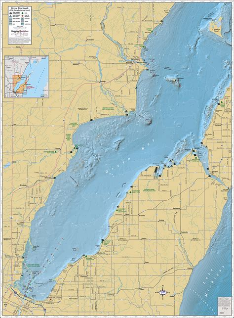 green bay map green bay southern wall map